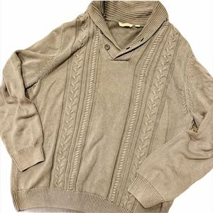 PARADISE COLLECTION Gray Cable Knit Sweater